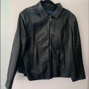 Wilson leather scuba style jacket